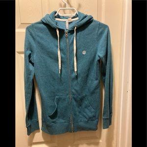 3/20 element men's teal zip up hoodie small